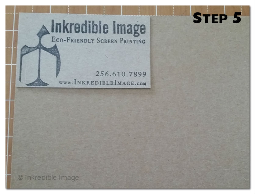 Step 5 recycled cardboard business cards