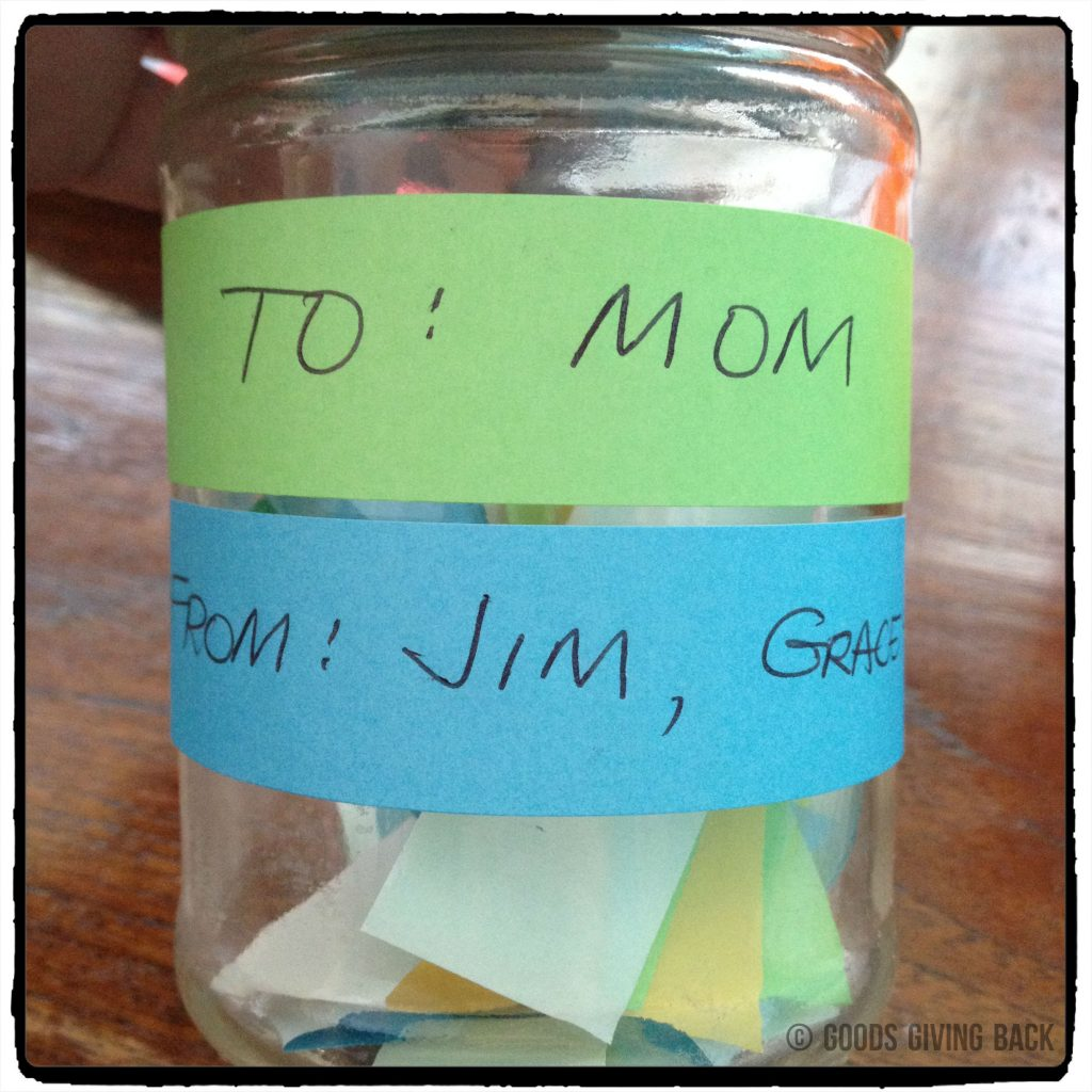 diy mother's day gift labeled