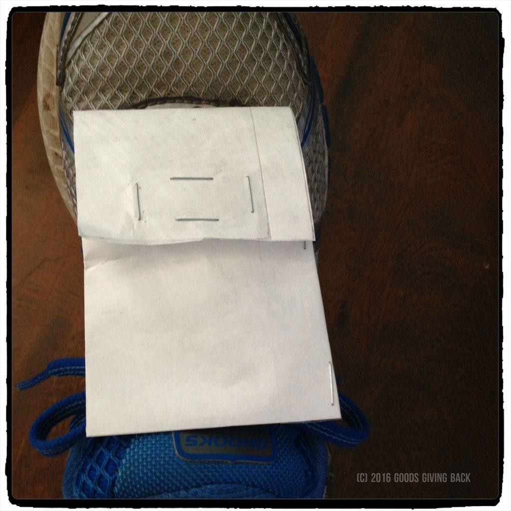 Tyvek shoe wallet secured