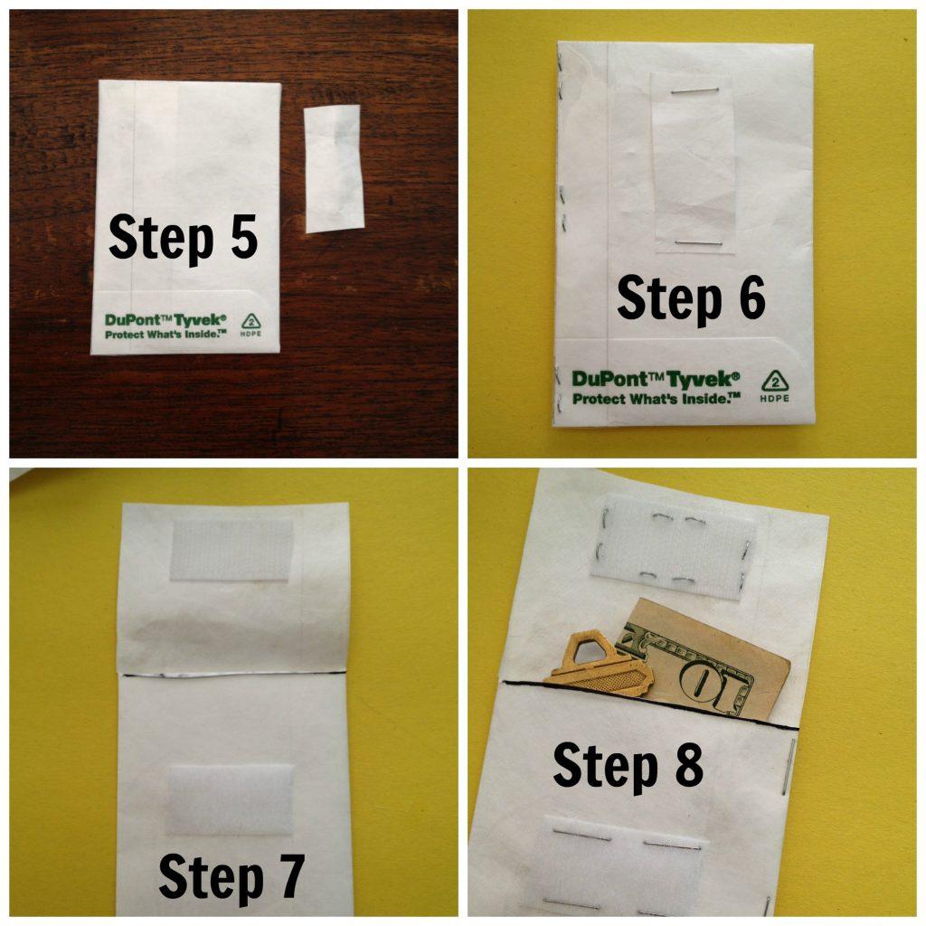 How to create Tyvek wallet closure
