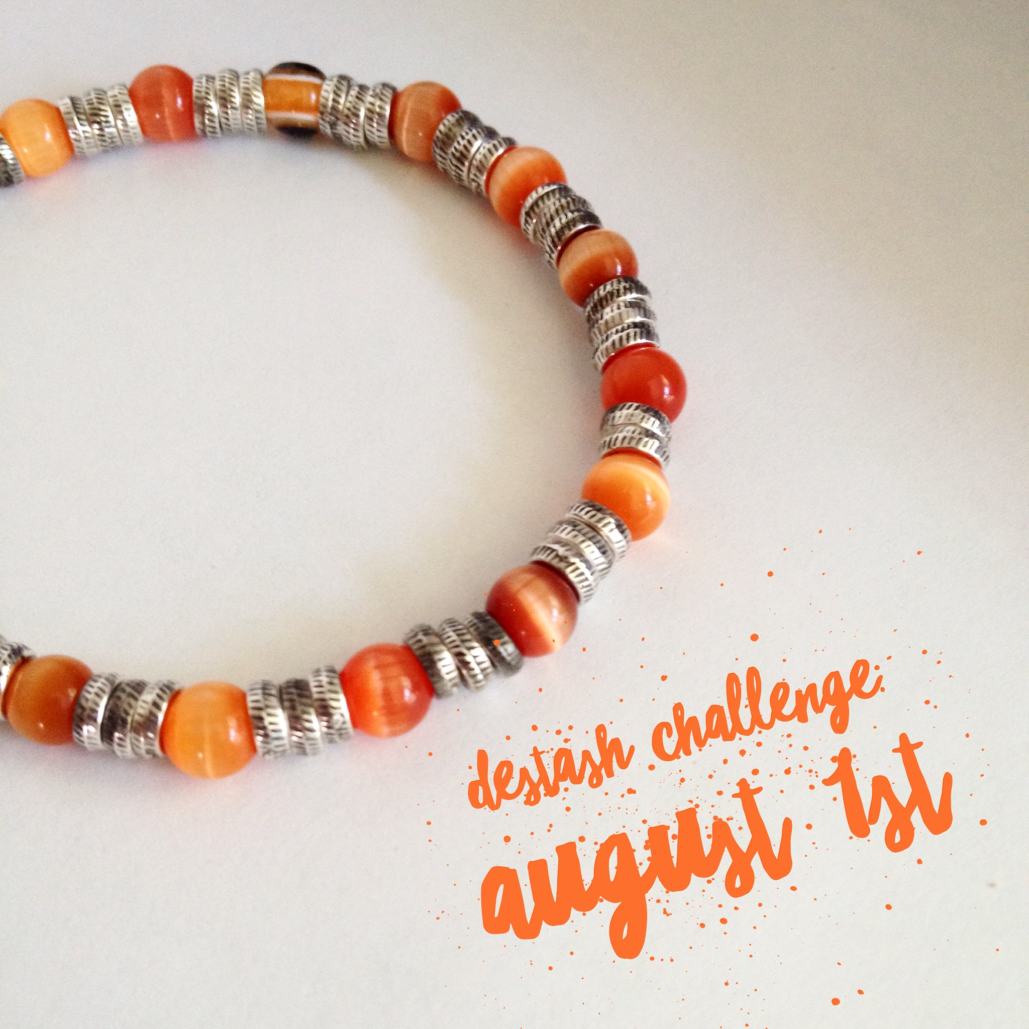 Destash Challenge August 1st Orange Evil Eye Bracelet