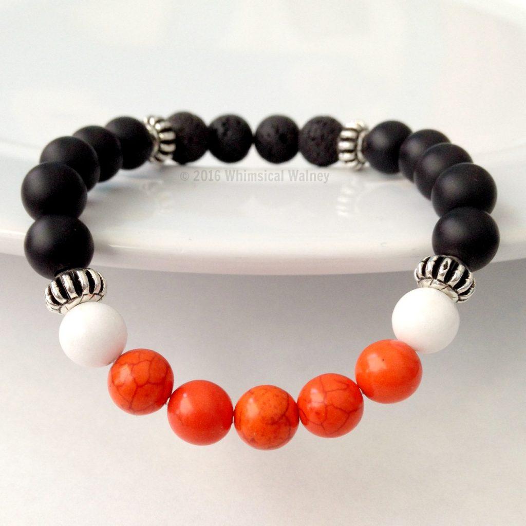 Magnesite & Lava Rock Diffuser Bracelet