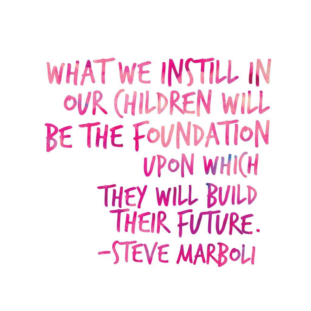 Steve Marboli and giving children
