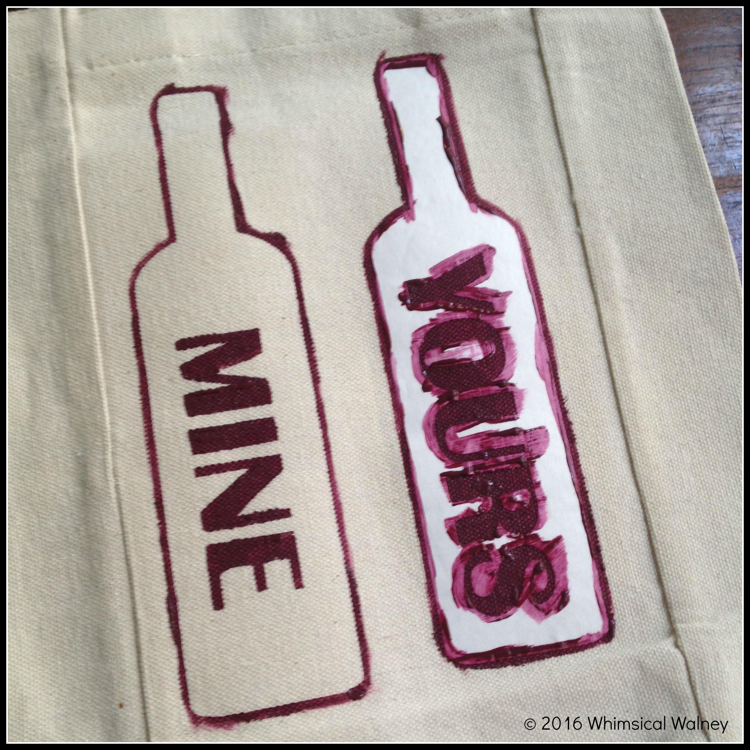 Painting sassy wine gift stencil