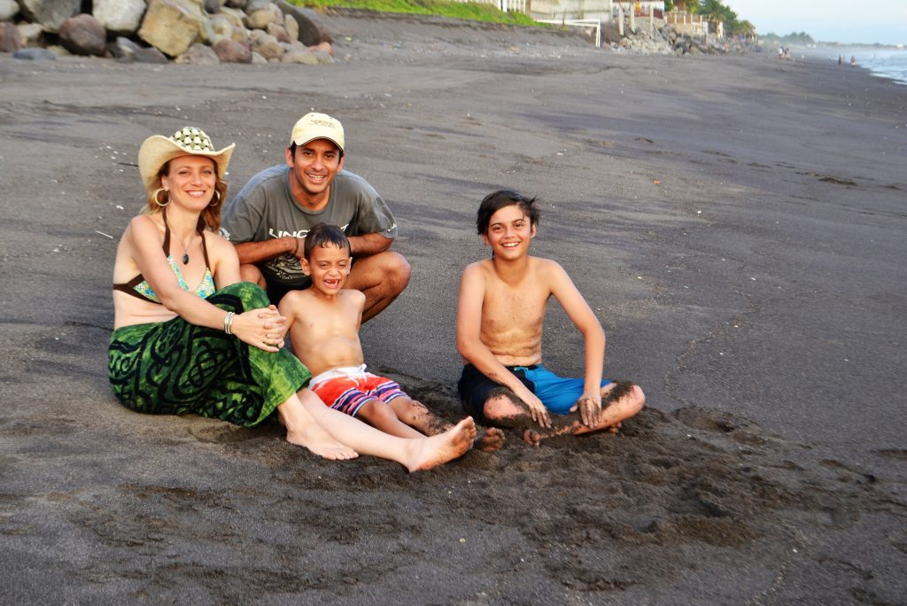Marina Villatoro and her family